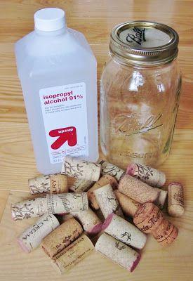 Wine cork fire starters