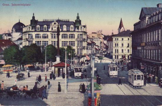 Jakominiplatz Graz,postkartenformat,18. jahrhundert,fotokarten,postkarte format,alte postkarten,alte fotos,grusskarte,steiermark austria,pos...
