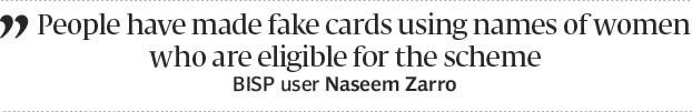 Robbed of funds: Women complain fake BISP cards in circulation - The Express Tribune