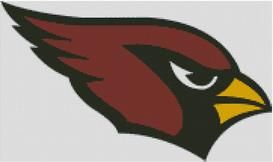 Cross Stitch Chart Arizona Cardinals Logo 1