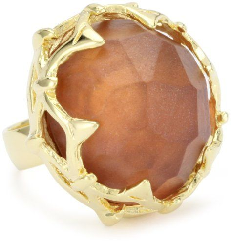 """Rachel Leigh """"Singita"""" Chocolate Rock Ring, Size 6 Rachel Leigh. $48.99. With custom resin translucent stone. 14k gold plated ring. Made in United States. Fits size 6. Save 49% Off!"""