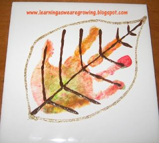 Handprint Leaf.  Fall Craft for babies to school aged kids!