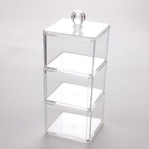 Makeup Craft Cosmetic Clear Acrylic Organiser Container Display #1183: Amazon.co.uk: Beauty