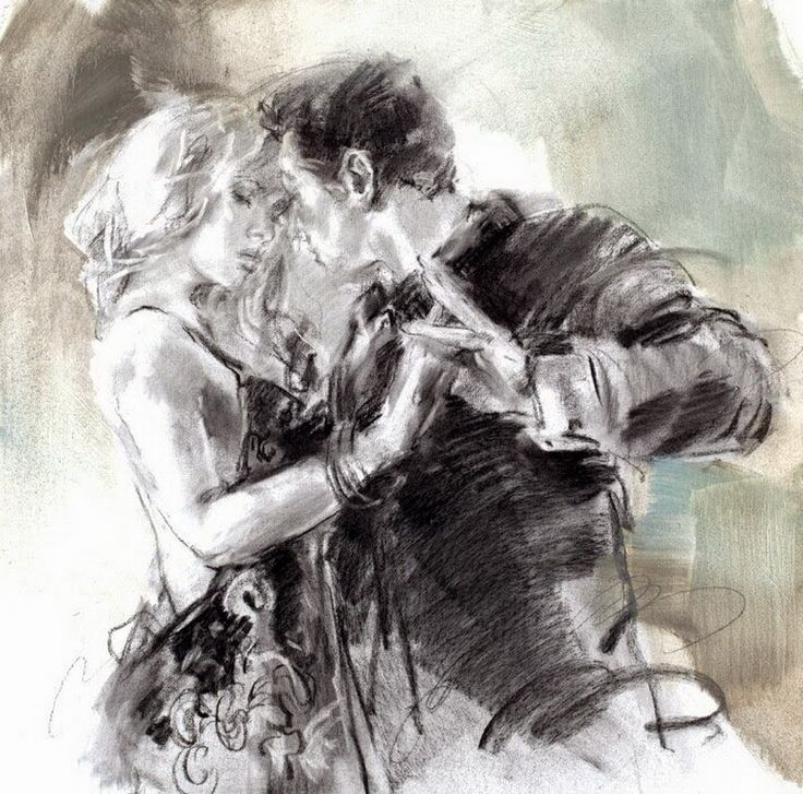 Resultado de imagen para boceto pareja bailando