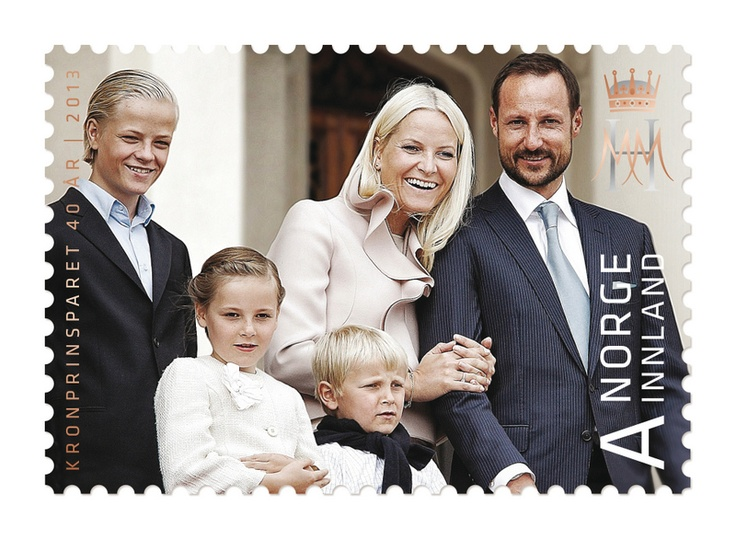 Norway - New stamps for Crown Prince Haakon and Crown Princess Mette Marit's 40th Birthday