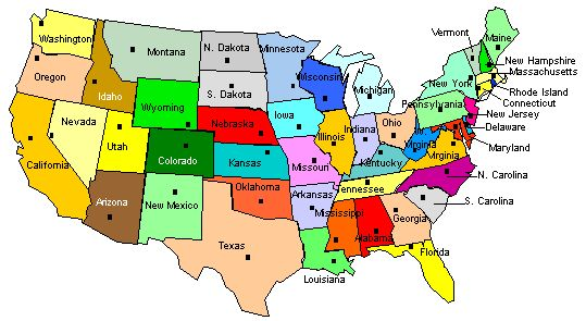 Us Map Quiz With Capitals Worksheet Format And Example USA State - Show us maps with states and cities
