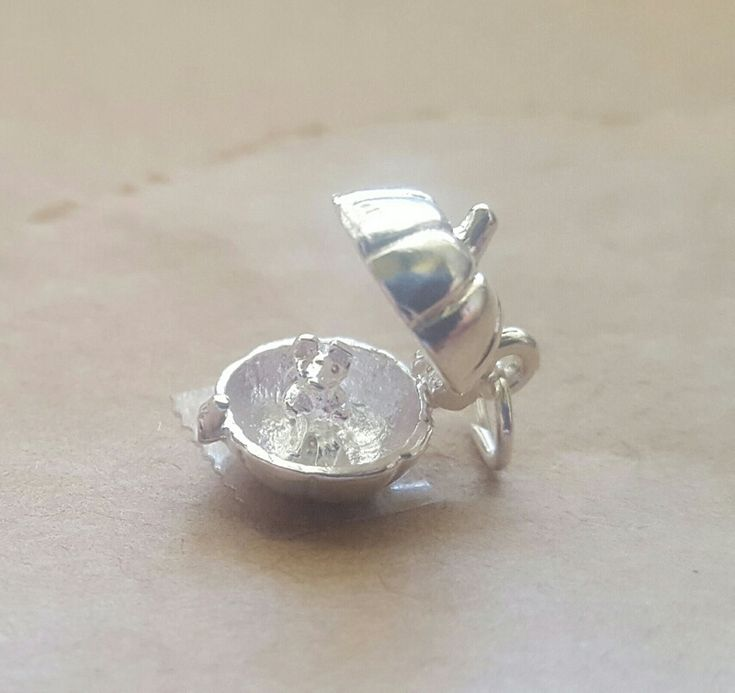 Charm - OPENING PUMPKIN WITH MOUSE - Sterling Silver or 9ct Gold