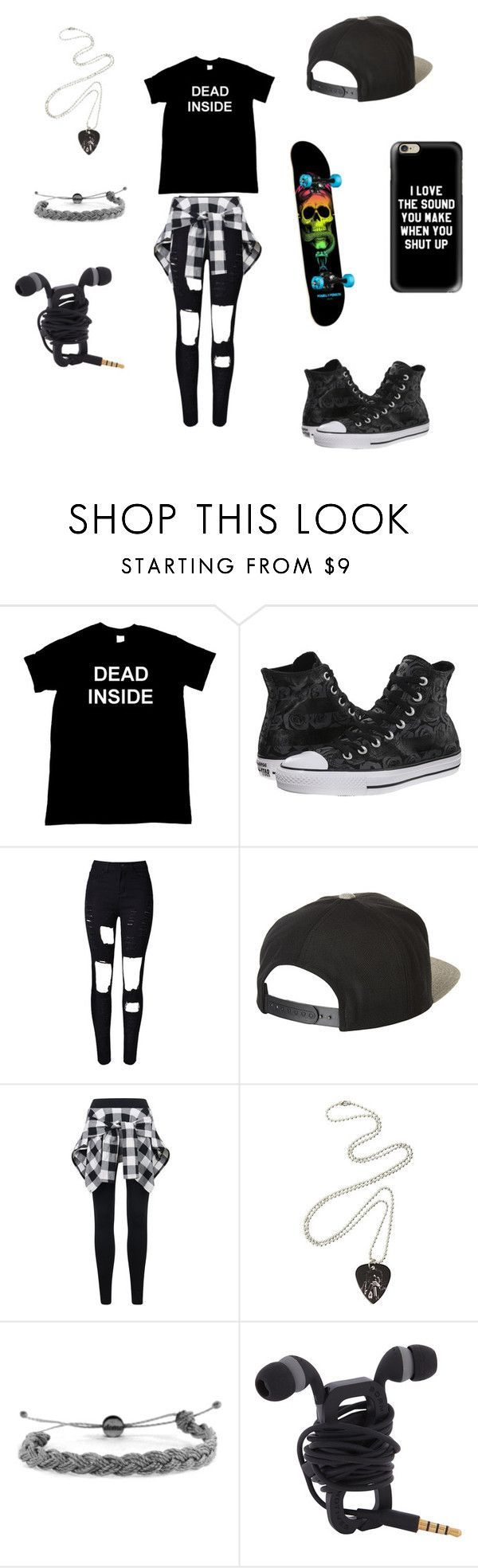 """""""Untitled #33"""" by darksoul7 on Polyvore featuring Converse, WithChic, Brixton, Domo Beads and Casetify"""