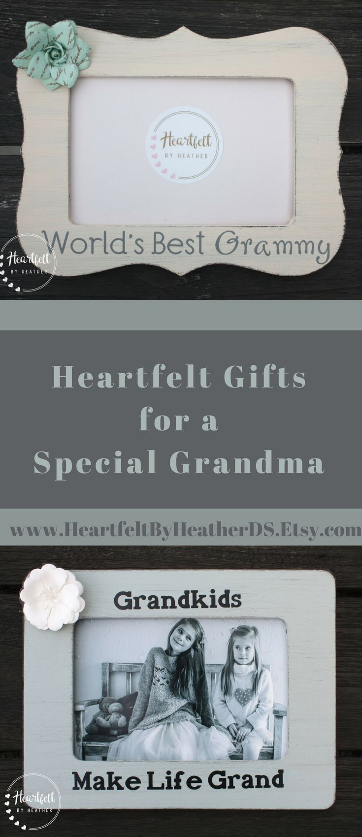 Custom Grandkids Make Life Grand Wood Picture Frame