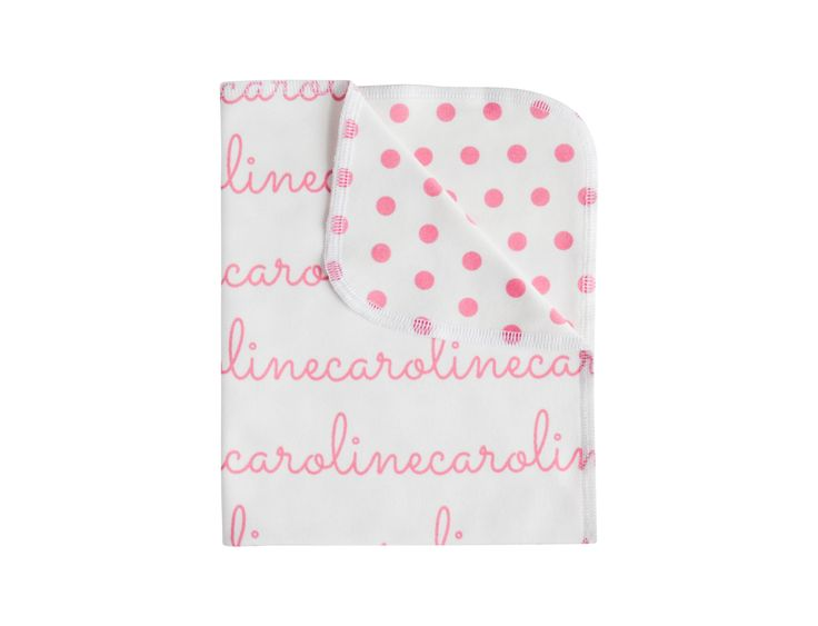 This personalized double-sided name blanket is 40in x 30in and perfect for newborns, infants and kids.  It's that blanket that could last a child many years.  It's great as a swaddling blanket, tummy time blanket, a car seat cover or a snuggle blanket.    **NOTE** Name and polka dot colors are...