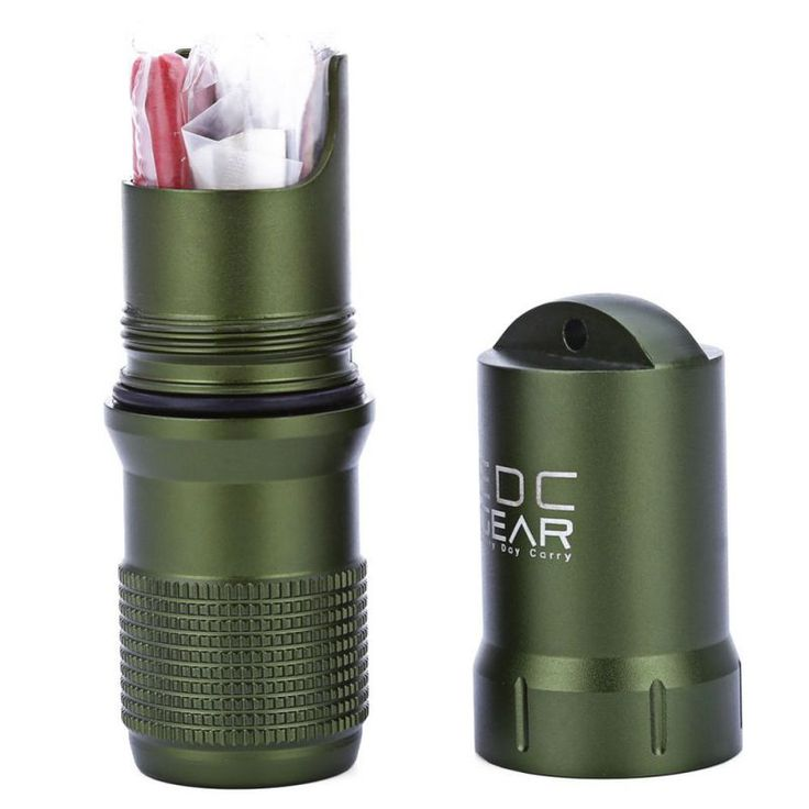 Survival Waterproof Pill/Match Case Box Container w Outdoor Camping Hiking Emergency Tool Camping Equipment