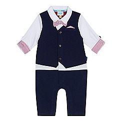 74a8656802cb Baker by Ted Baker - Baby boys  navy smart mock romper suit