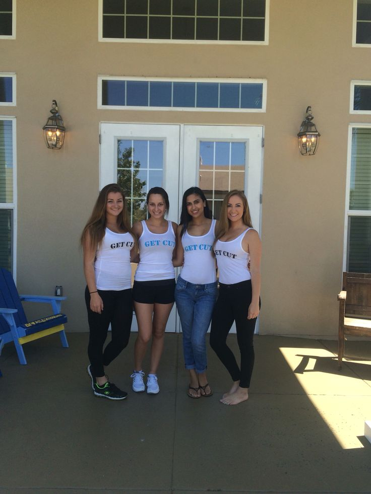 The ladies of UCF Alpha Xi Delta wearing 1 Of A Kind tanks!