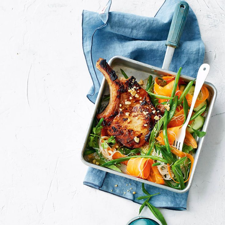 Vietnamese-Style Pork Chops With Noodle Salad