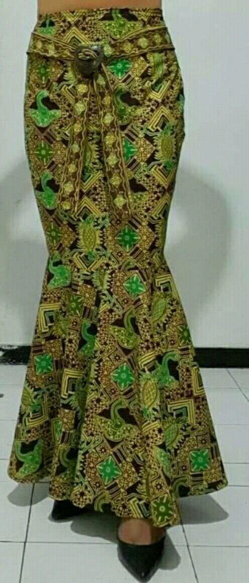 Self-made batik mermaid skirt