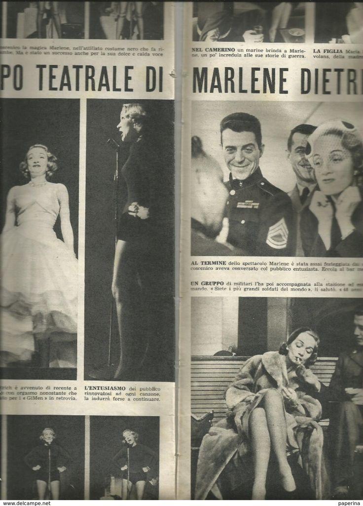 Old Paper - MARLENE DIETRICH 1952 ARTICOLO RITAGLIATO DA GIORNALE
