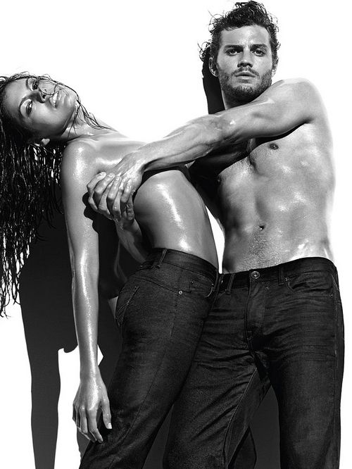 Eva Mendes and Jamie Dornan in new Calvin Klein adverts  #jamiedornan #evamedes