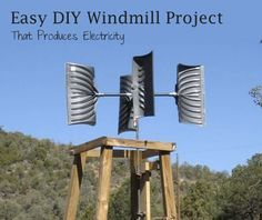 This entire alternative energy project costs less than $200 to build. And, yes, those are snow shovels that you see in the photo. Once built, the windmill will need to be connected to some kind of appropriate alternator and then can generate 300 watts of power.This is the easiest homemade windmill you will find!CORRECTION! In the video I said 3000w generator... I meant to say 300w... sorry about that. (senior moment) Also, my total cost was a little under $200.Parts List Below:27' Snow…