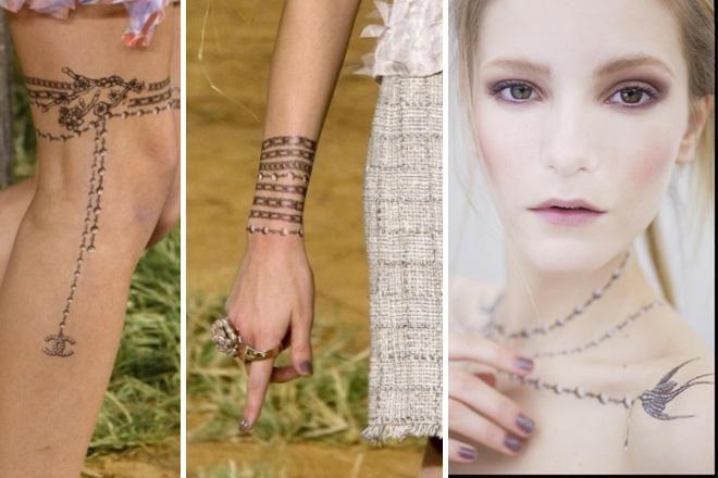 はじめてのパリコレでみた、シャネルの魅惑のタトゥー・アート。夏だもの、タトゥー シールに夢中です!(Yui Sugiyama)http://buff.ly/1EdSzN2