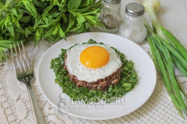 Фото бифштекса с яйцом