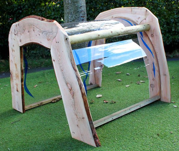 Waterfall Pod....a special structure to gather under and watch the rain....I love it and so want one!
