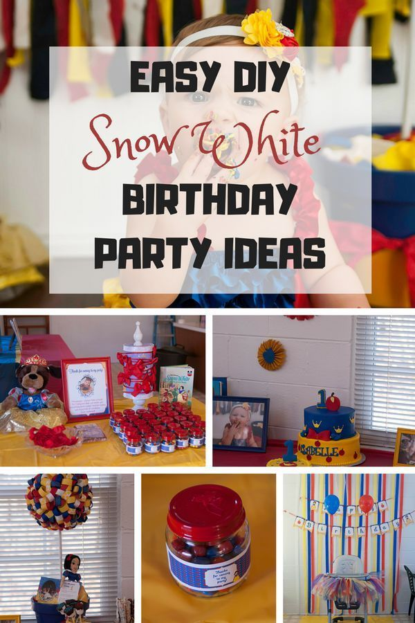 Snow White First Birthday Party Snow White Party Snow White