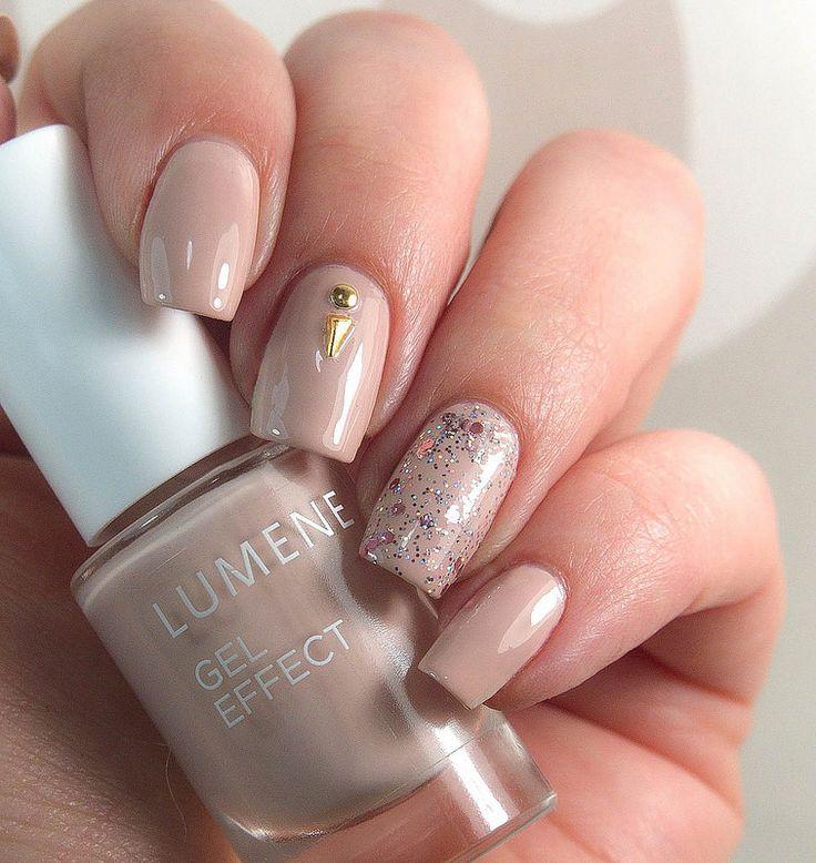 Lumene Gel Effect Nail Polish shade 12, Tearose - for a perfect nude manicure by blogger Charming Nails. #nailpolish #lumene