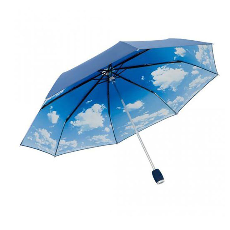 Ombrello con protezione dai raggi UV, blu - ombrelli