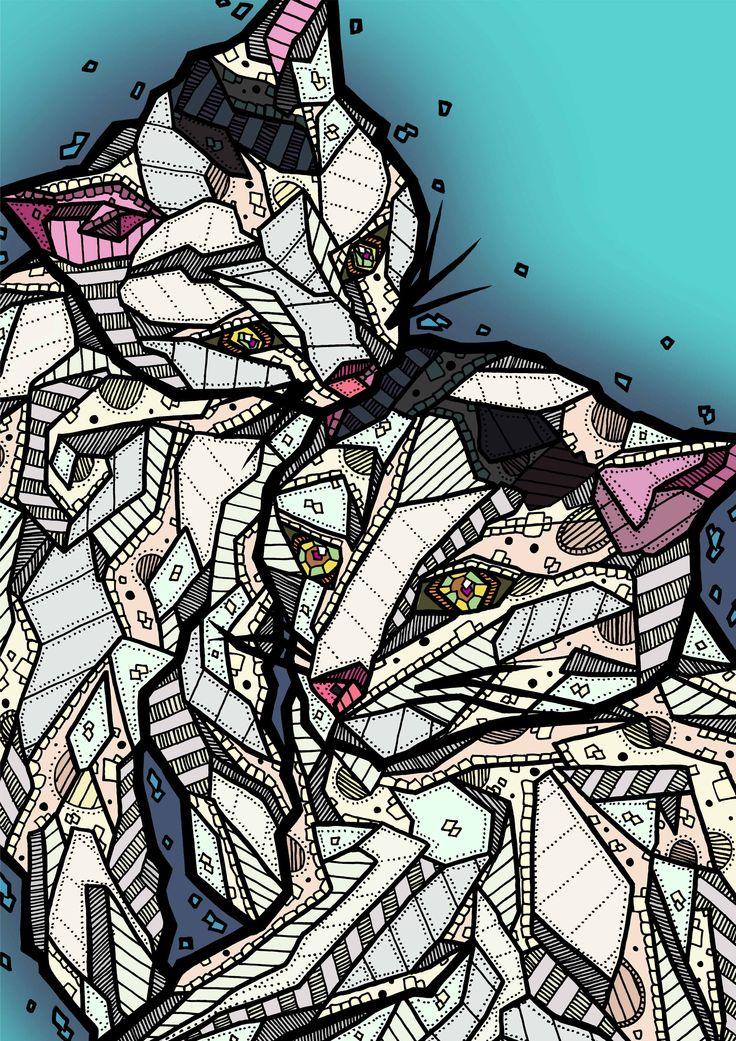 """Leevi & Fynn"" Illustration by Kelly Blake"