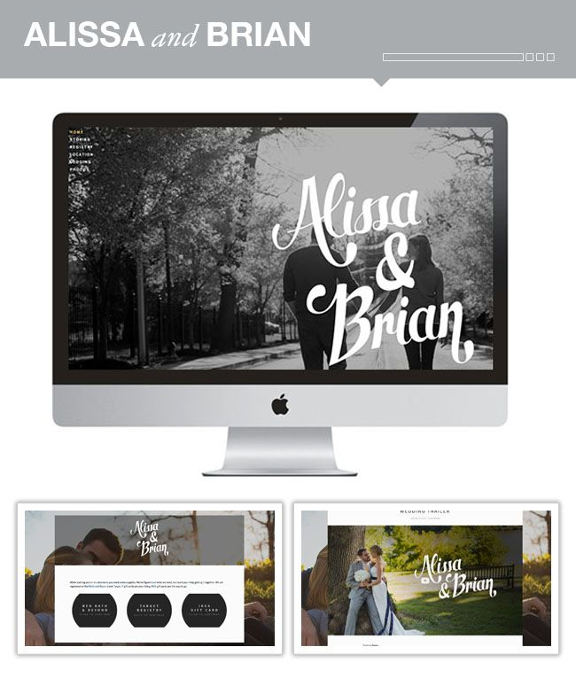 easy custom wedding websites from Squarespace
