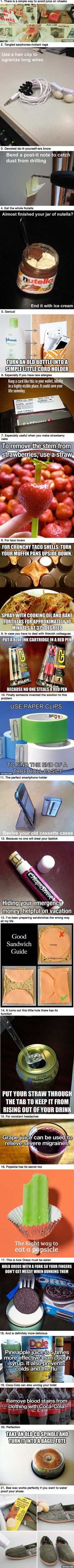 21 Life Hacks That Are Nice To