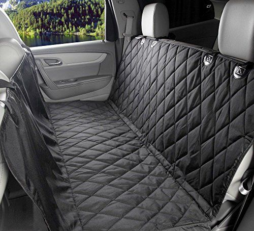 MOKOQI Dog Seat Covers Pet Travel Barrier With Adjustable Seat Anchors And Seat Belt Opening WaterProof & NonSlip Backing Dog Car Hammock For All Cars Trucks SUV(Black) *** Check out this great product.