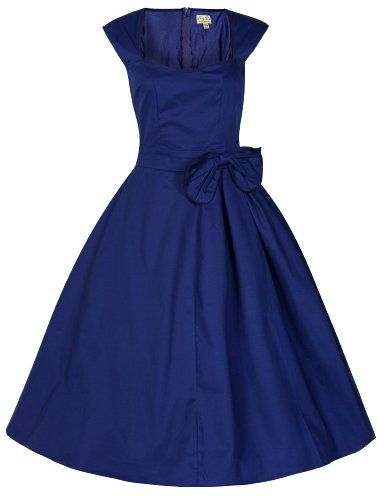 Lindy Bop 'Grace' noble Vintage 1950 Rockabilly Bow Kleid (42, Mitternacht Blau) Lindy Bop,http://www.amazon.de/dp/B00I3YNQNS/ref=cm_sw_r_pi_dp_7t5Htb01G63TH023