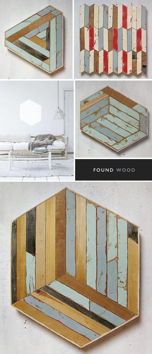Found Wood http://www.sfgirlbybay.com/2013/05/01/the-jealous-curator-art-goes-here-27