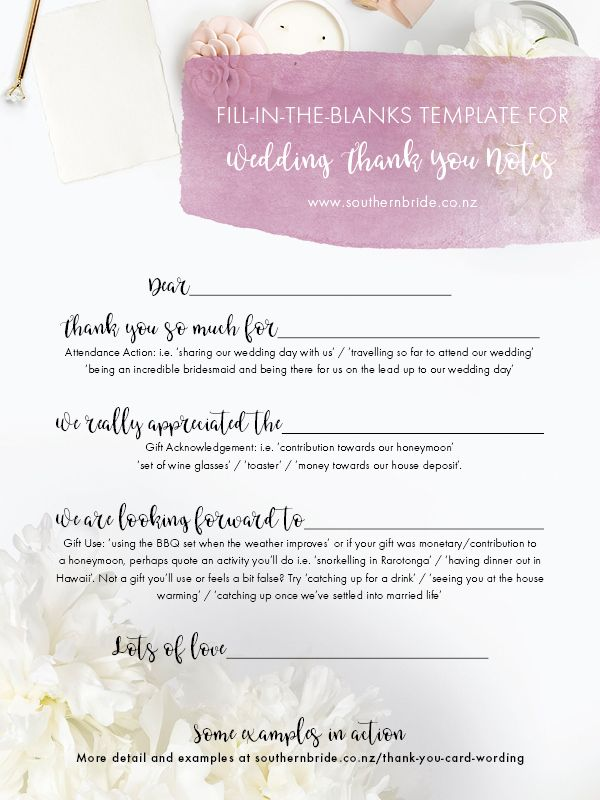 How To Write A Thank You Note For Money Wedding