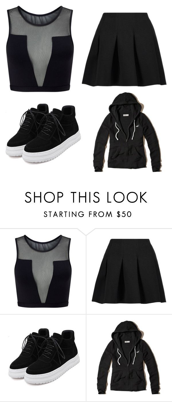 """Untitled #6"" by yasmien-khalfallah on Polyvore featuring Varley, T By Alexander Wang, WithChic and Hollister Co."