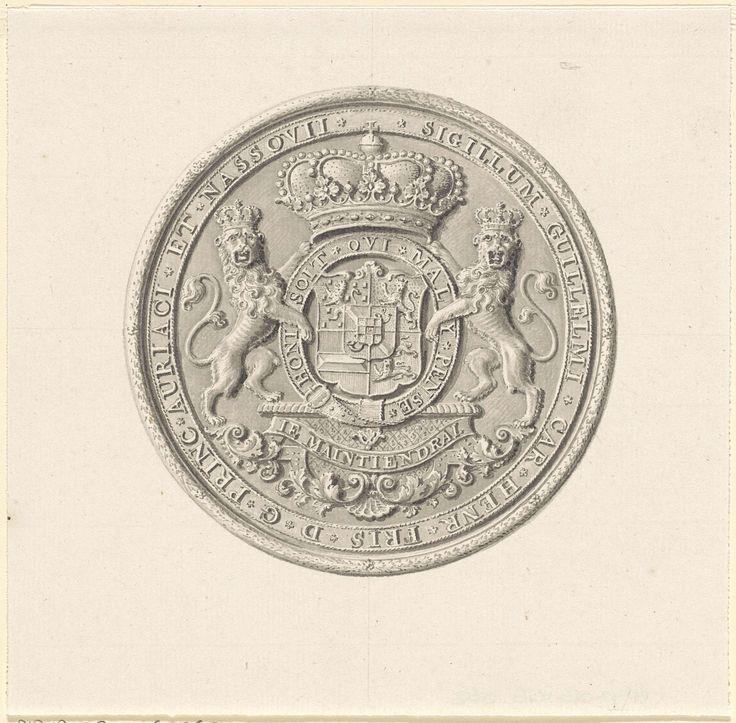 Wapen van Willem IV, prins van Oranje-Nassau, anoniem, 1733 - 1799