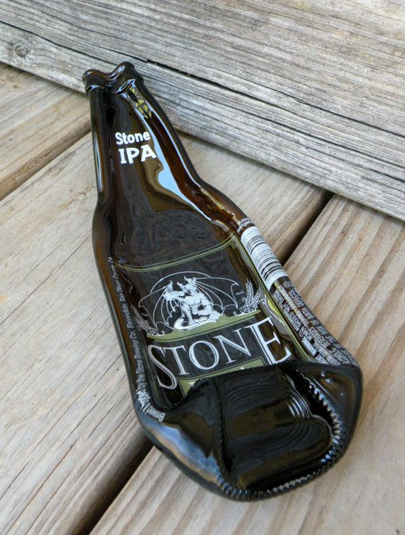 STONE IPA Melted Beer Bottle Spoon Rest by becadesigns on Etsy, $10.00 #StoneIPA #IndiaPaleAle #Gargoyle #becadesigns