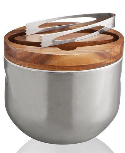 Nambe Mikko Ice Bucket with Tongs - Serveware - Dining ...