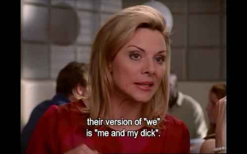 """On men's fear of commitment: 