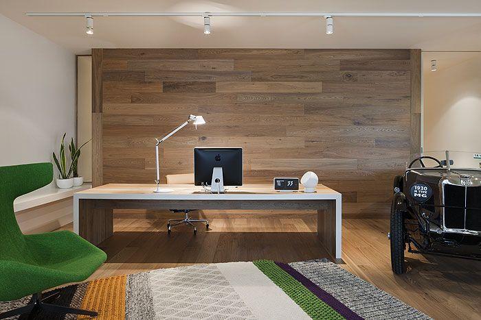 Smoked American Oak timber floors and wall by Royal Oak Floors.  www.royaloakfloors.com.au