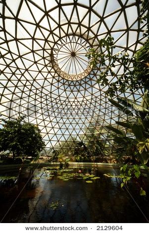 Glass house in botanical garden, Brisbane, Australia