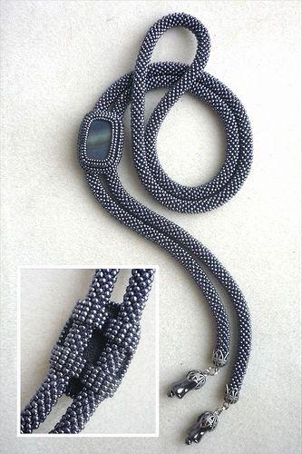 Мои галстуки боло (много фото)   biser.info - всё о бисере и бисерном творчестве