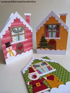 sete modelos cartao natal artesanal presentear amigos familiares papel scrapbook cartolina (1)