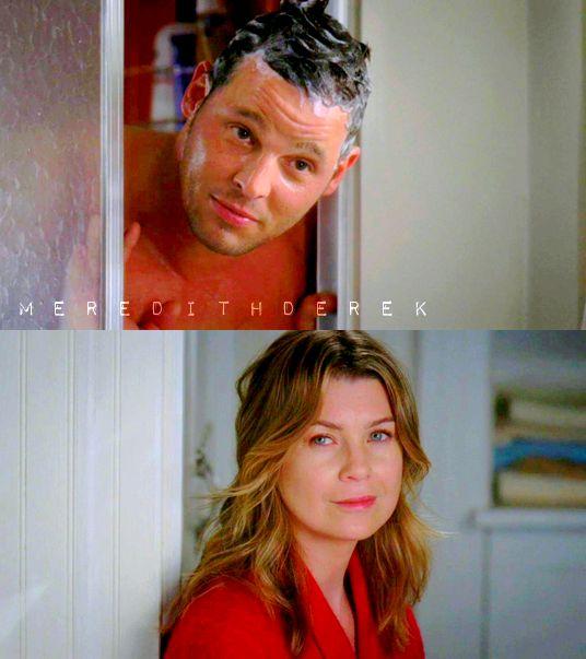 """Alex: """"Che ti ha fatto?! Devo prenderlo a calci?!?"""" Meredith: """"Vuole farmi fare un bambino!"""" Alex: """"Izzie vuole il divorzio..mi ha mandato le carte, documenti ufficiali.."""" Meredith: """"Vuoi che la prenda a calci?!"""" (6x19)"""