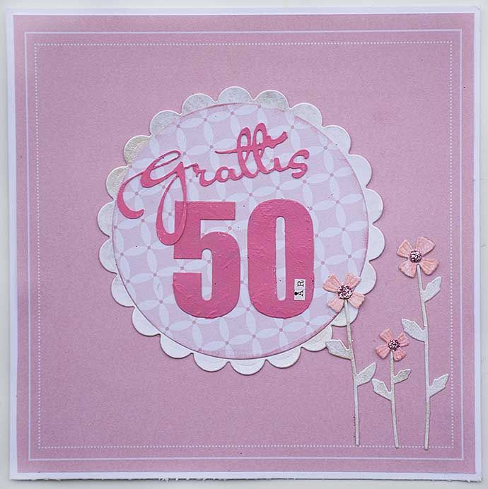 Pink 50th annual card by Helens Color Life