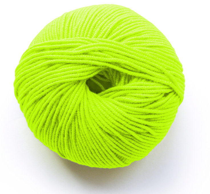 Limited edition  colour Lime to Naturally Soft yarn range from MillaMia.