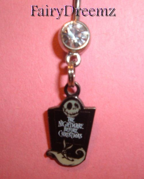 Nightmare Before Christmas Belly Ring