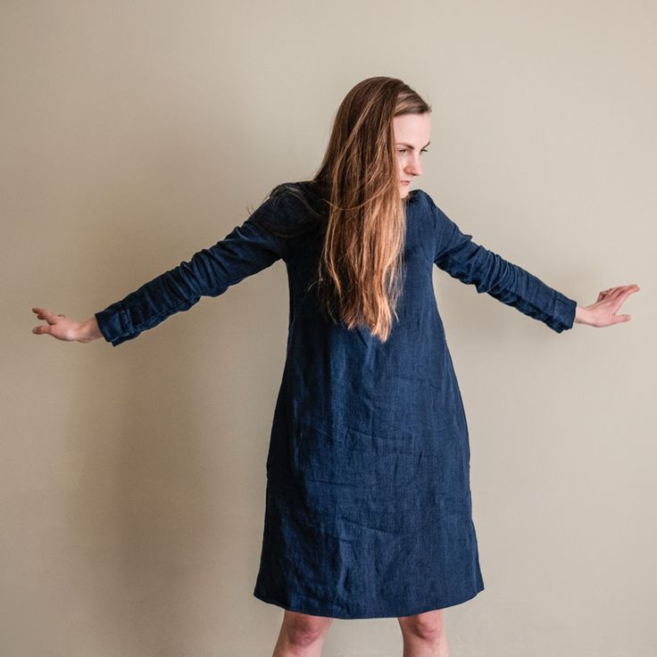 The Rugby Dress Sewing Pattern from Merchant and Mills, a feminine semi-fitted take on the traditional rugby shirt, available now from our online store... www.drapersdaughter.com #sewing #dressmaking #merchantandmills