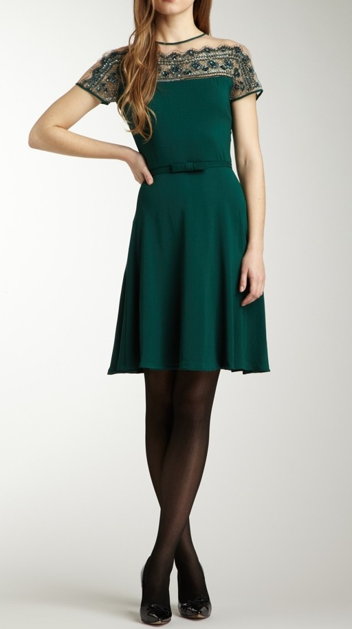 Emerald Bow Dress / valentino